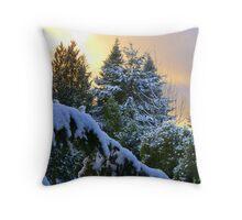 Frosty Alpenglow Throw Pillow