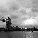 Tower Bridge London - Black & White Panorama by CalumCJL
