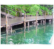 jetty reflections at Plitvice Lakes Poster