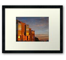 Broadway and Divisidero Golden Sunrise Framed Print