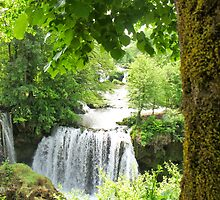waterfall at Rastoke in Croatia by Anne Scantlebury