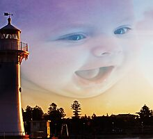 Happy Afternoon At The Lighthouse by Evita