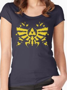 Hyrule Rorschach (gold) Women's Fitted Scoop T-Shirt