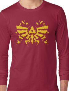 Hyrule Rorschach (gold) Long Sleeve T-Shirt