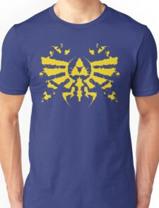 Hyrule Rorschach (gold) Unisex T-Shirt