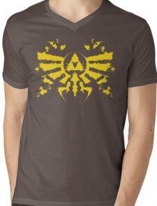 Hyrule Rorschach (gold) Mens V-Neck T-Shirt