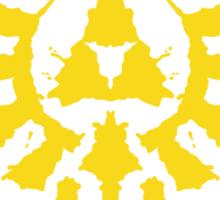 Hyrule Rorschach (gold) Sticker