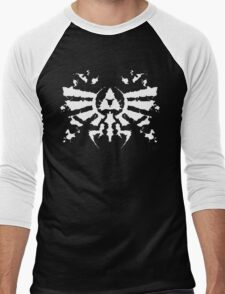 Hyrule Rorschach (white) Men's Baseball ¾ T-Shirt