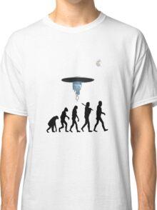 Human evolution alien intervention annunaki light background Classic T-Shirt