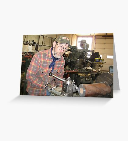 Machinist Greeting Card