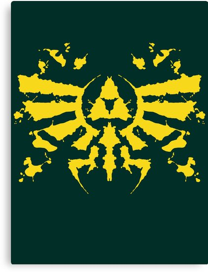 Hyrule Rorschach (gold) by MightyRain