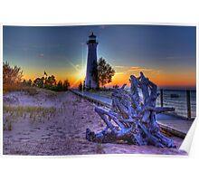 Sunset at Crisp Point Lighthouse Poster