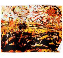 desert heat..... burning sun Poster