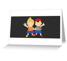 Ness & Lucas (Black) - Super Smash Bros. [Requested] Greeting Card