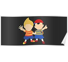 Ness & Lucas (Black) - Super Smash Bros. [Requested] Poster