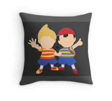 Ness & Lucas (Black) - Super Smash Bros. [Requested] Throw Pillow