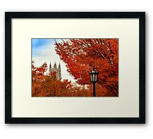 Autumn in Boston College Framed Print