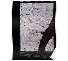 USGS Topo Map Washington State WA Eldon 20110503 TM Inverted Poster