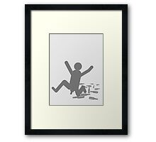 Beer leads to Streaking Framed Print