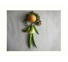 Playing With Vegetables : Art Print