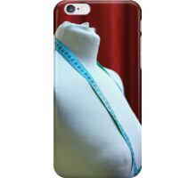 tailor's dummy and tape measure  iPhone Case/Skin