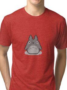 Totoro Pixelated Tri-blend T-Shirt