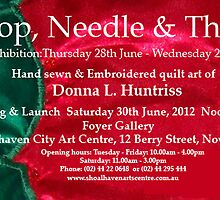 Hoop, Needle & Thread Invitation by Donna Huntriss