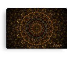 Afro-Mexican Burn Weave Mandala Canvas Print