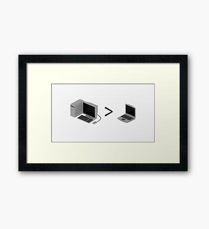Desktop > Laptop Framed Print