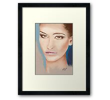 I'm so bored with being beautiful Framed Print