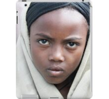 Africa, Ethiopia, Lalibela, portrait of a young local girl  iPad Case/Skin