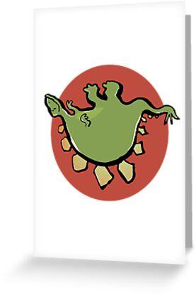 stegosaur upside down by greendeer
