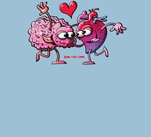Heart and Brain: A Love Story Womens Fitted T-Shirt