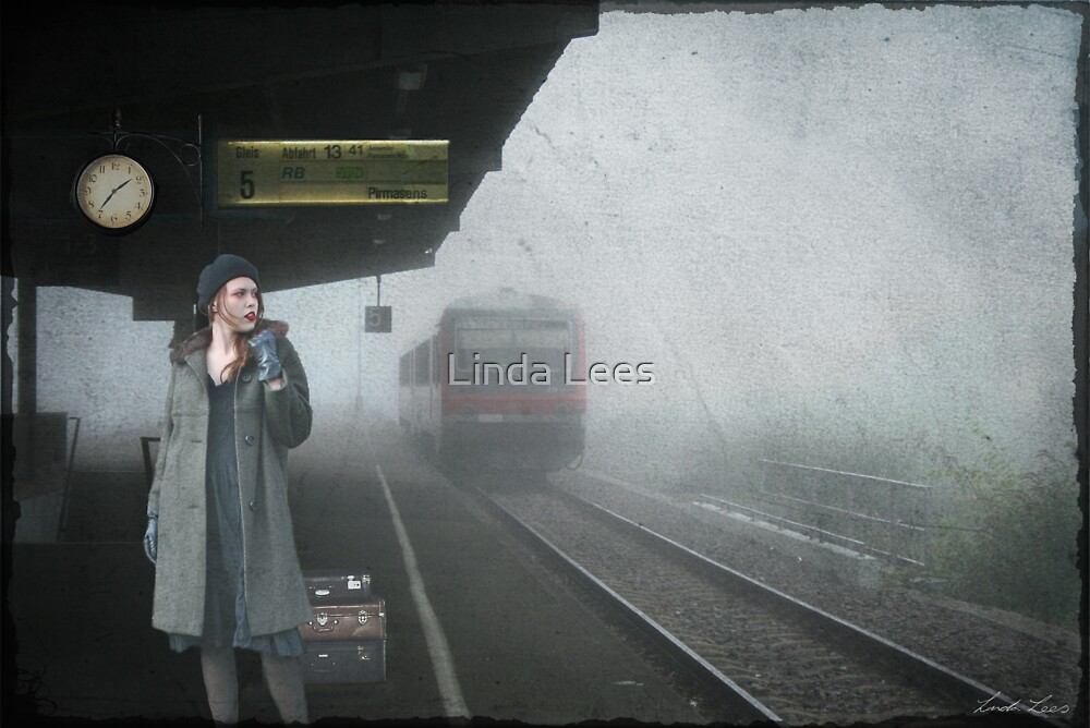 Waiting for a Train by Linda Lees