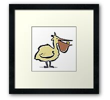 can you trust a pelican? Framed Print