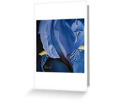 Iris ~ Blue by Genevieve Chausse Greeting Card