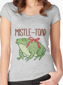 MistleToad - Funny Toad - Christmas - Holiday Women's Fitted Scoop T-Shirt