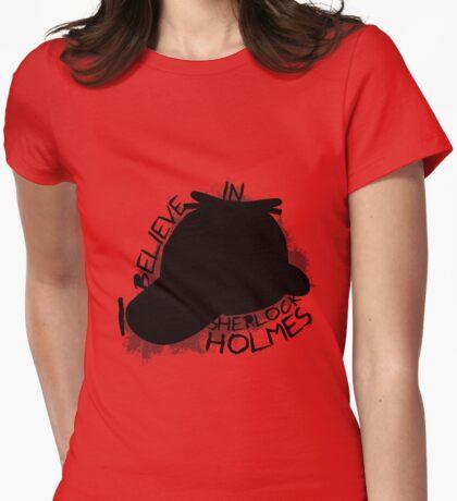 I Believe In Sherlock V.1 (black) Womens Fitted T-Shirt
