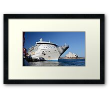 Floating... not sinking! Framed Print