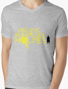 I Believe In Sherlock V.2 (Graffiti) Mens V-Neck T-Shirt
