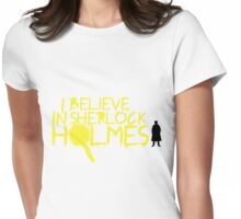 I Believe In Sherlock V.2 (Graffiti) Womens Fitted T-Shirt