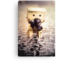 Danbo and Camera Canvas Print