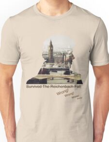 I survived Reichenbach - WRONG! Unisex T-Shirt