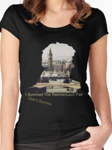 I didn't survive the Reichenbach Fall Women's Fitted Scoop T-Shirt