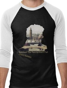 I didn't survive the Reichenbach Fall Men's Baseball ¾ T-Shirt