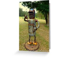 The Aussie Alien comes smoking and drinking..... Greeting Card