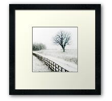 Snow flurries  Framed Print