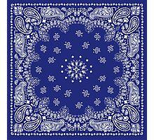 Blue Bandana  Photographic Print
