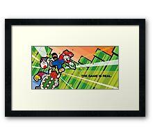 Inception Mario Framed Print