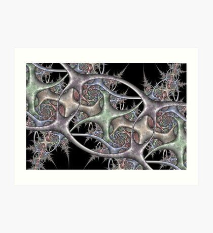 Weathered Steel Weave Art Print